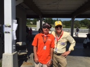 Tom and security agent at Lime Rock Park