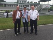 Tom with Sam Posey at Lime Rock Park