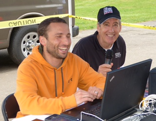 Tom in the Pat Griskas Triathalon with Mike from Fast-track Timing